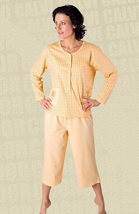 Dámské pyžamo Calvi 22-959 na rozepínání