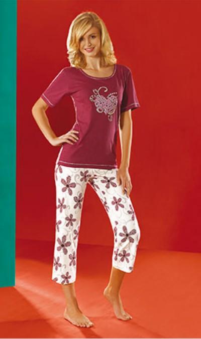 Dámské pyžamo Luna 542 Stříbrné srdce