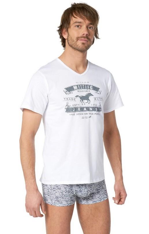 Pánské tričko s véčkem Mustang Jeans 5511