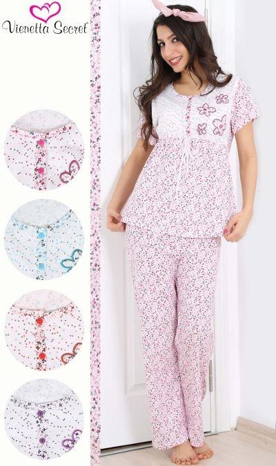 Romantické dámské pyžamo Vienetta - Květy