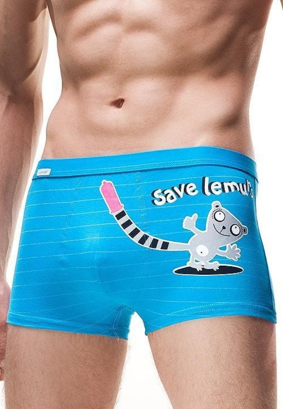 Pánské boxerky Cornette Tattoo - Save Lemurs