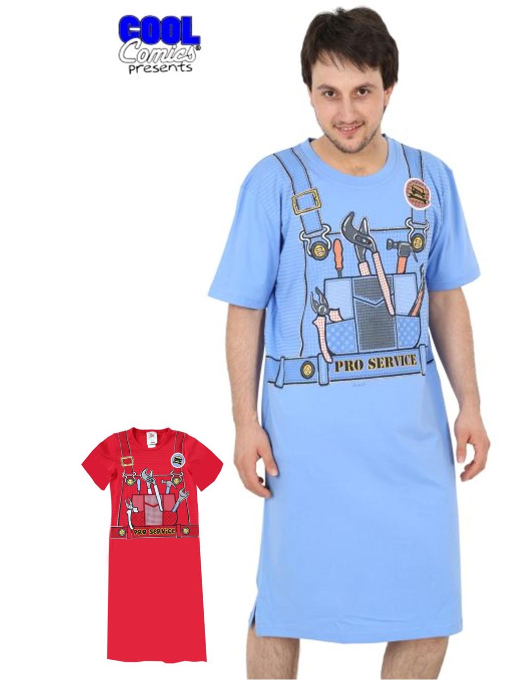 Pánská noční košile Domácí kutil