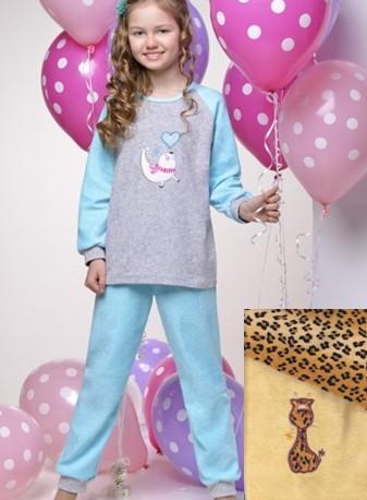 Dětské froté pyžamo Taro - našitý obrázek