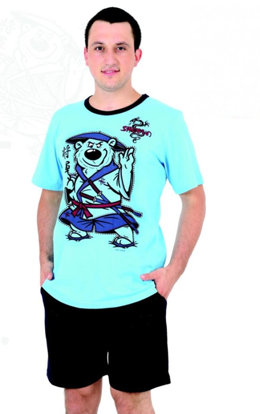 Pánské pyžamo krátké šortky - Medvěd - Shogun