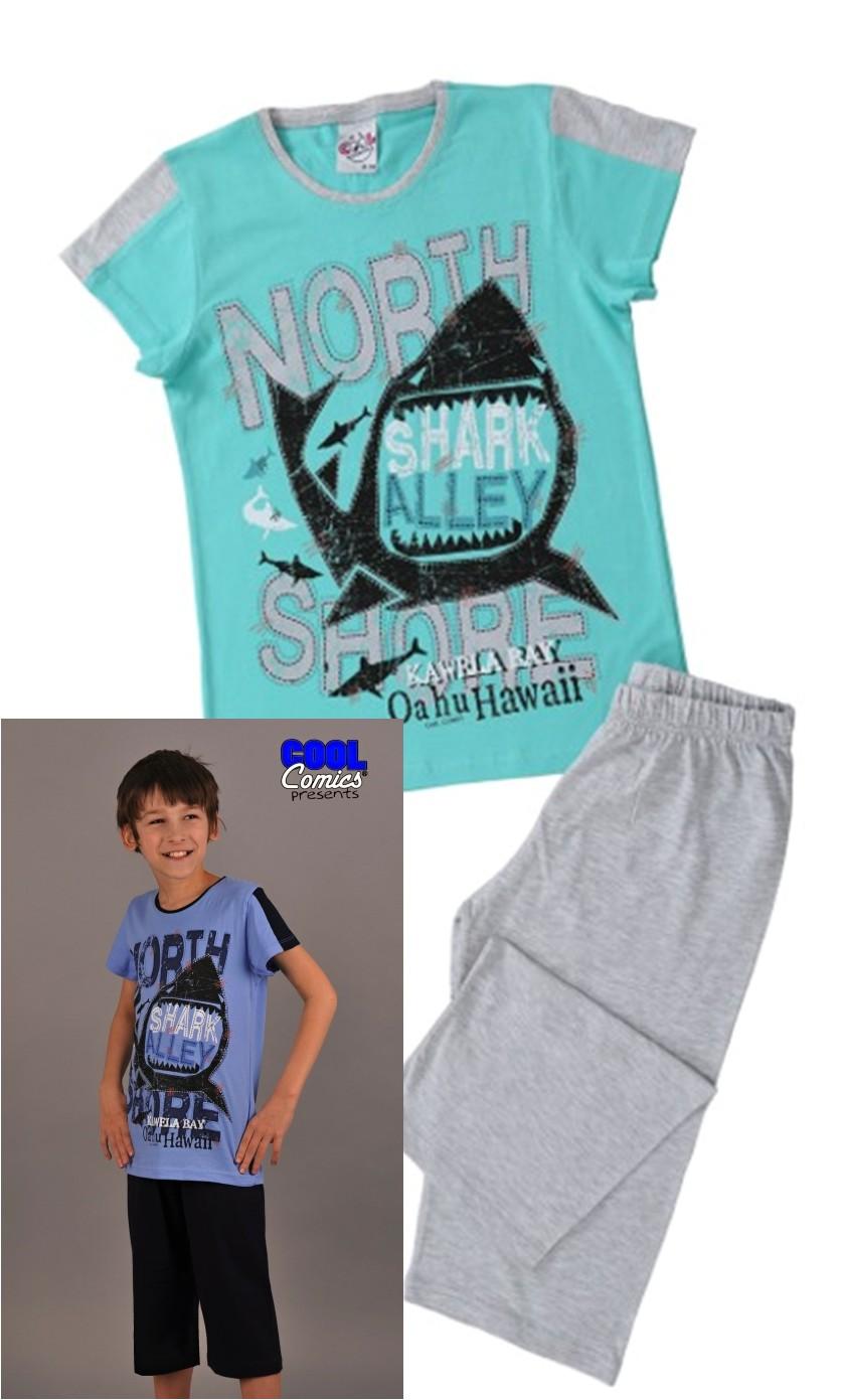 Chlapecké pyžamo tříčtvrteční - Žralok