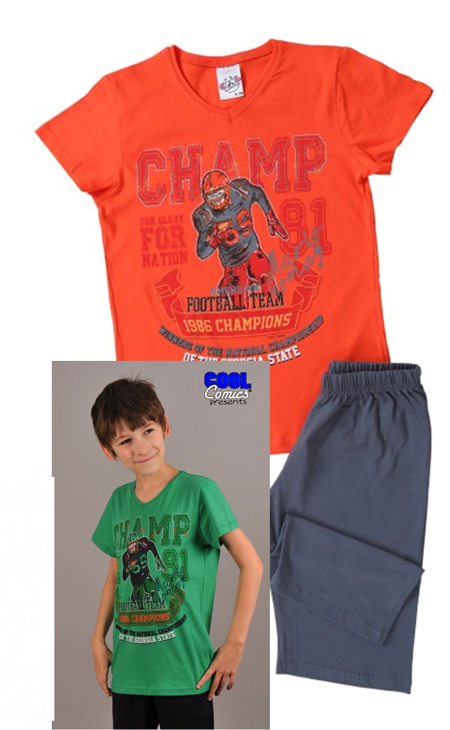 Chlapecké pyžamo - Americký fotbal