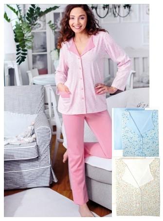 Decentní pyžamo na rozepínání Regina 759
