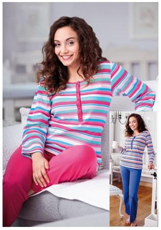 Proužkované pyžamo dámské - Regina 757