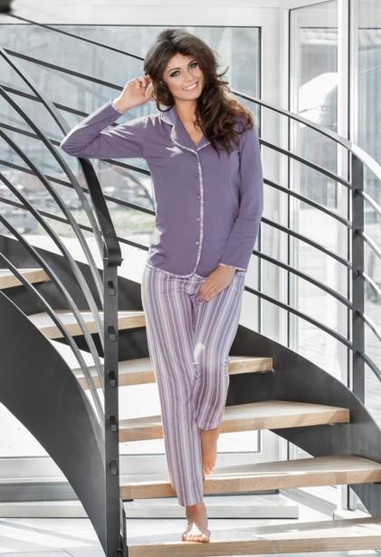 Elegantní dámské pyžamo na rozepínání - Luna 578
