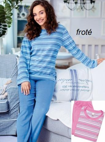 Proužkované froté pyžamo - Regina 64314