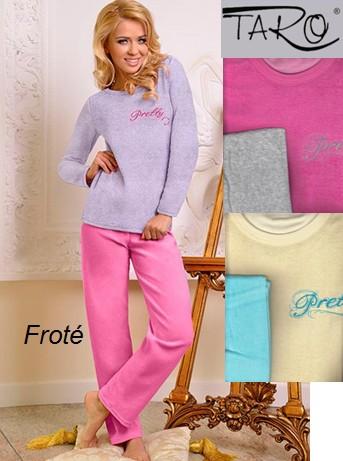 Froté pyžamo pro dámy s výšivkou - Pretty