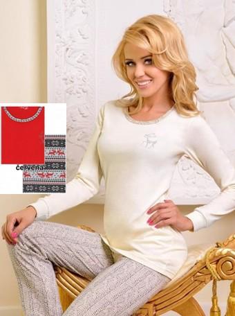 Zimní pyžamo pro dámy - s patentem - Taro Sobík