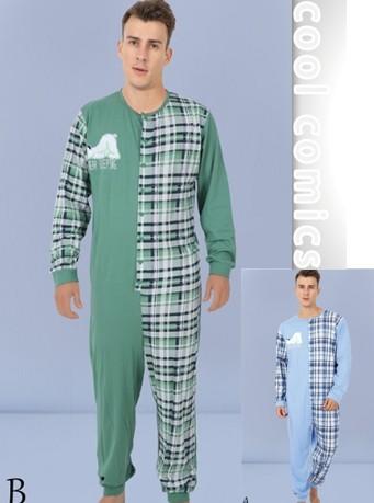 Spící bílý medvěd - pánské pyžamo - overal