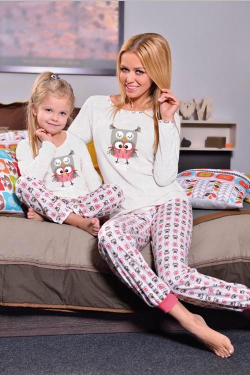 Dětské pyžamo dlouhé vzorované - Sova Snow