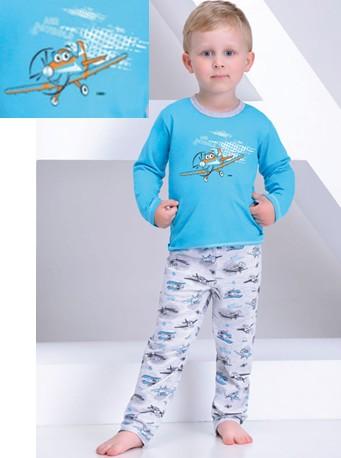 Chlapecké pyžamo dlouhé Damian - 86-140 - Letadlo