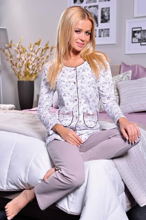 Květované pyžamo na knoflíky dámské - Wera