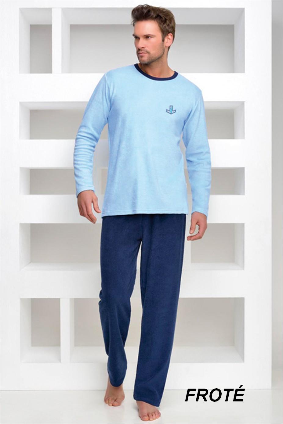 Froté pyžamo pánské Adrian 2 - s výšivkou