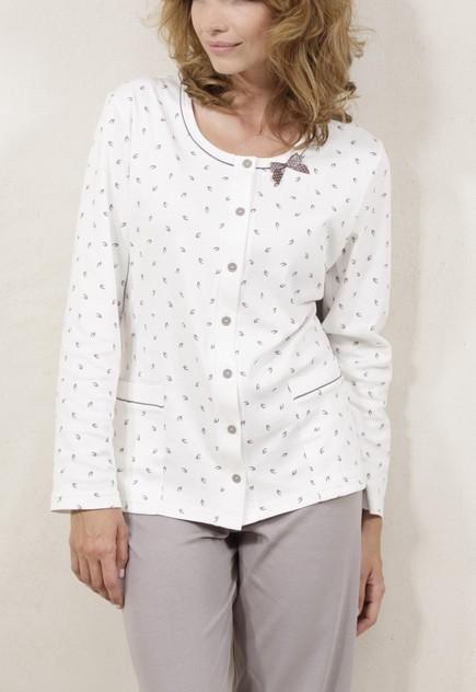 Elegantní dámské pyžamo na rozepínání - Cana 138
