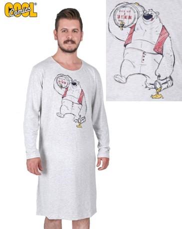 Medvěd Pivař - pánská noční košile