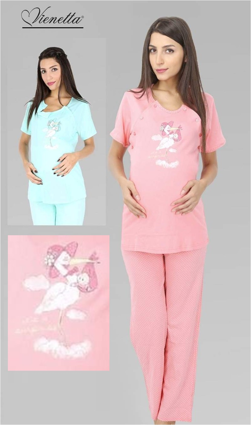 Mateřské pyžamo krátký rukáv - Překvapení
