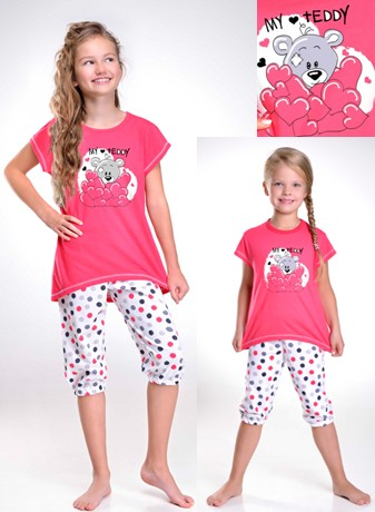 Dívčí tříčtvrteční pyžamo - Můj medvídek