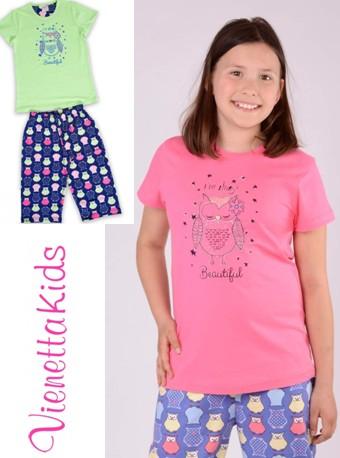Dívčí tříčtvrteční pyžamo dvoubarevné - Beautiful