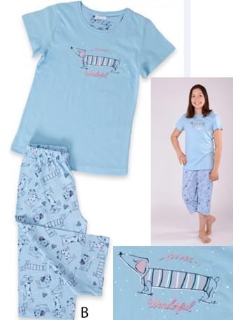 Dívčí tříčtvrteční pyžamo - Wonderful