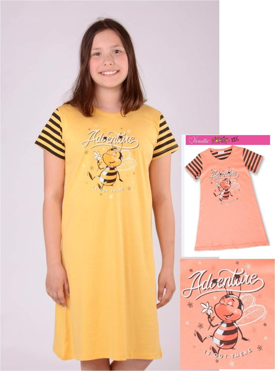 Dětská noční košile s krátkým rukávem - Včelka