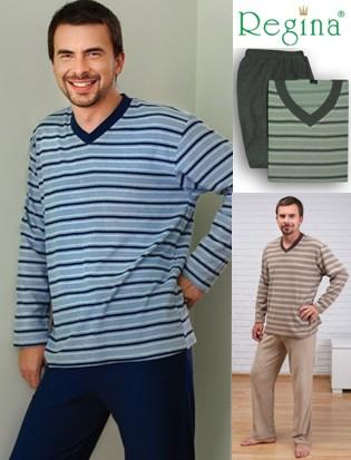 Pánské pyžamo dlouhé Regina 387 - froté