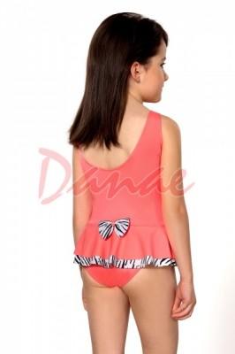 17668e0f59e Dívčí celé plavky se širším ramínkem a mašličkou vzadu - Danaeshop