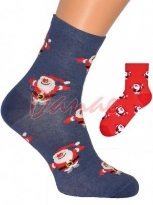 Mikuláš - dámské ponožky s vánočním motivem - Danaeshop 66acca4cae
