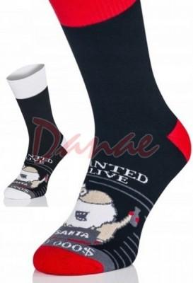 Wanted - pánské froté ponožky s Mikulášem - Danaeshop c2bd3982bf