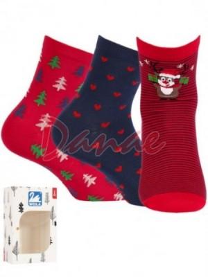 Výhodné dárkové balení - dámské ponožky 3 páry - Danaeshop 50d0e79986