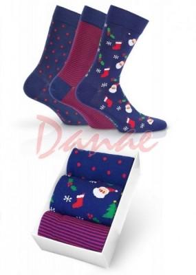 Výhodné dárkové balení - modré ponožky pánské 3 páry - Danaeshop 1f9ba4ab8b
