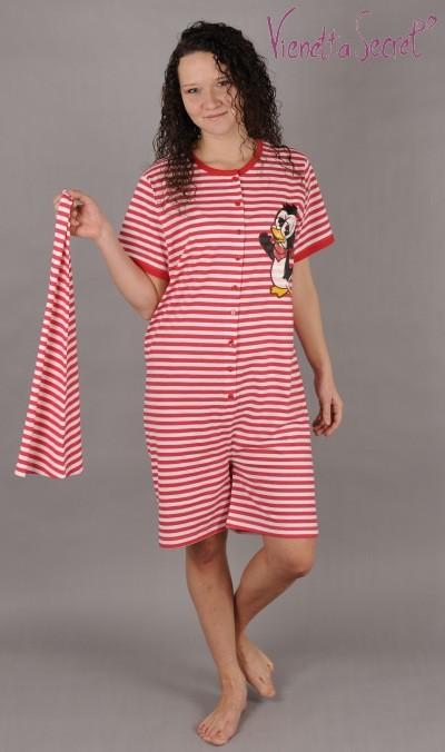 Dámské pyžamo - overal Tučňák
