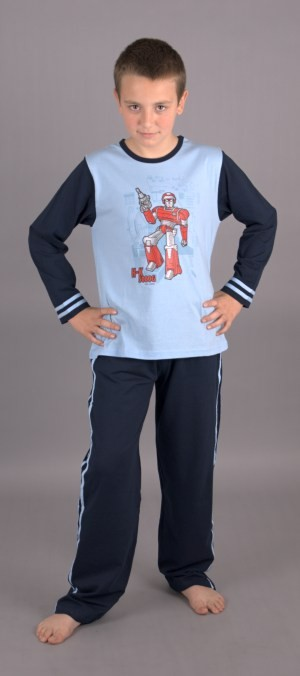 Dětské pyžamo Vienetta Secret dlouhé - Robot