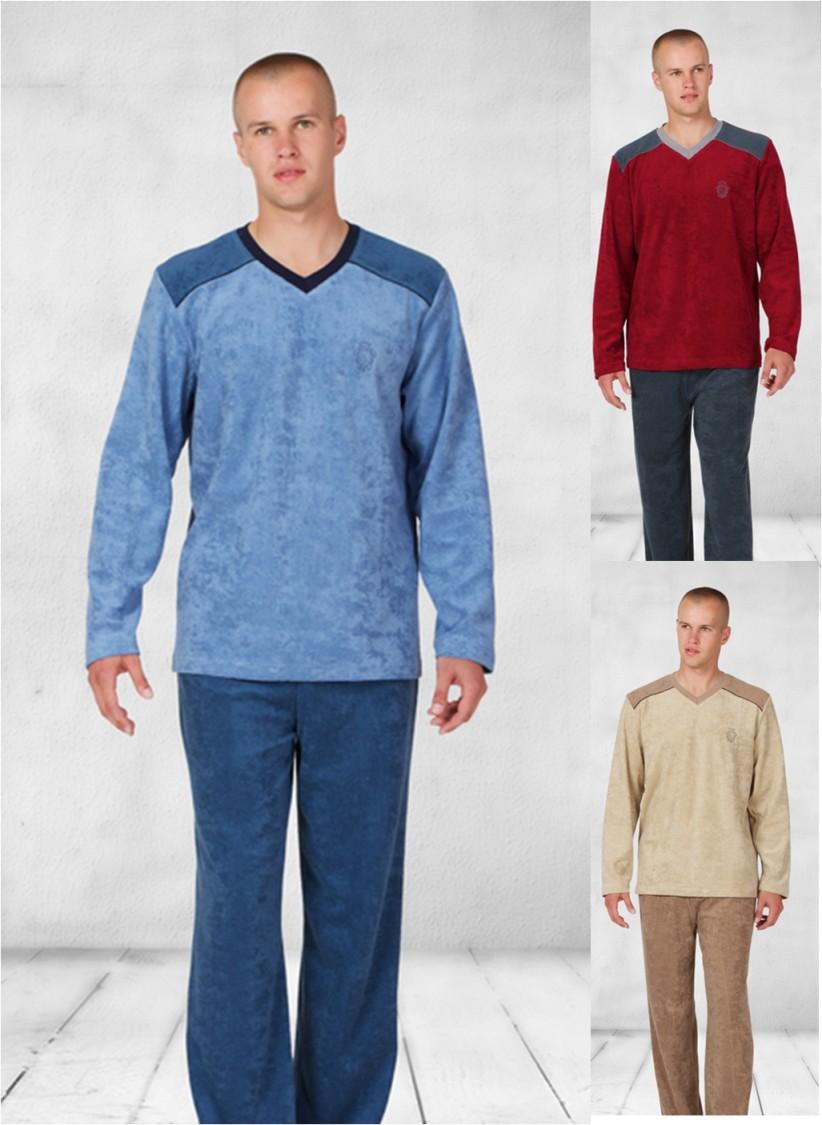 Pánské froté pyžamo dlouhé Marek