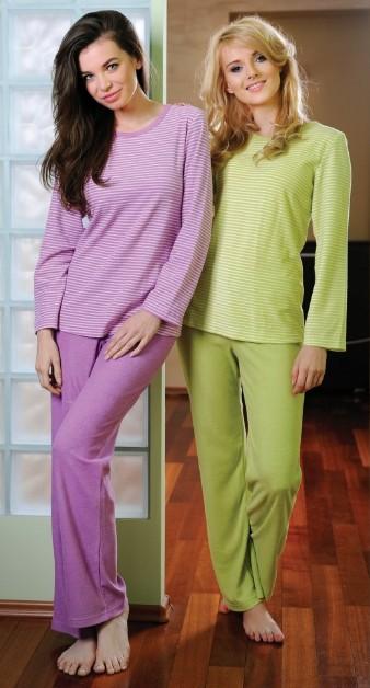 Froté dámské pyžamo Regina 643 - proužkované