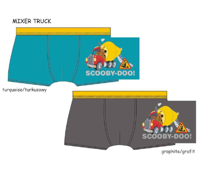 Chlapecké boxerky Scooby Doo - Mixer Truck